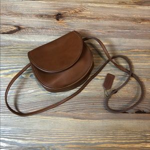 Coach Vintage Small Crossbody Bag in Brown Leather